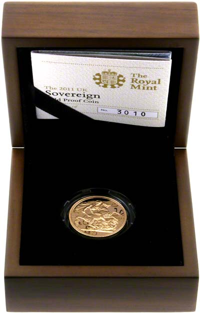 2011 Proof Sovereign in Presentation Box