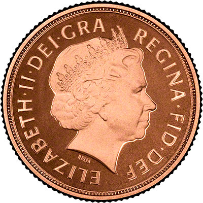 Obverse of the 2011 Proof Sovereign