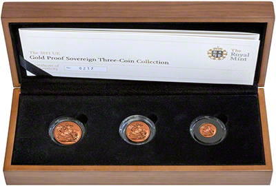 2011 Gold Proof Premium Three Coin Set in Presentation Box