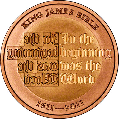 Reverse of Gold Proof King James Two Pound