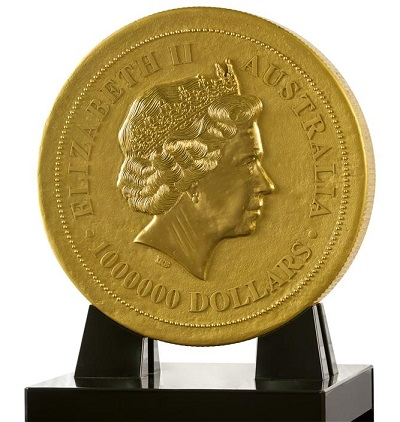 2012 One Tonne Gold Nugget Obverse