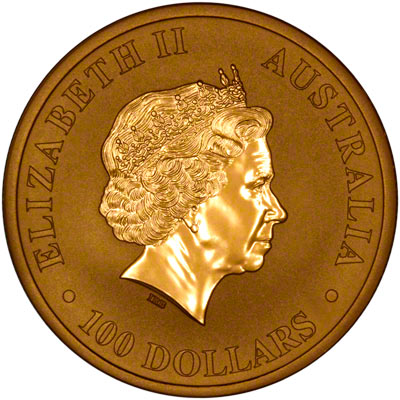 Obverse of 2012 One Ounce Gold Nugget
