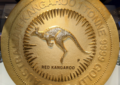 2012 Australia One Tonne Gold Nugget Reverse