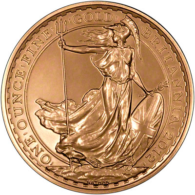 Reverse of 2012 One Ounce Gold Britannia
