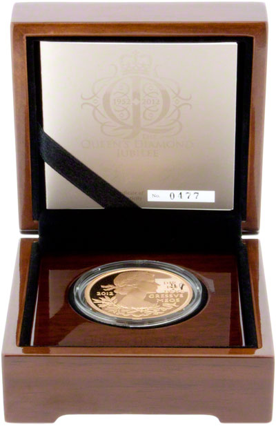 2012 Diamond Jubilee Gold Proof Crown in Presentation Box