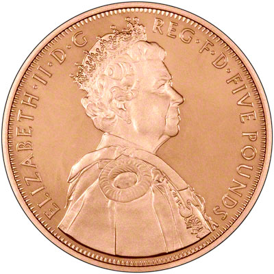 Obverse of 2012 Diamond Jubilee Gold Proof Crown