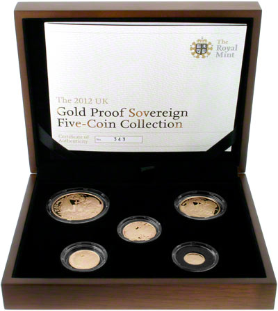 2012 Five Coin Gold Proof Set in Presentation Box