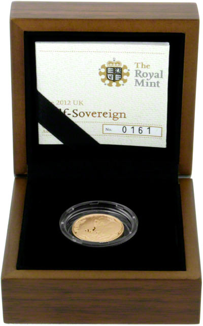 2012 Gold Proof Half Sovereign in Presentation Box