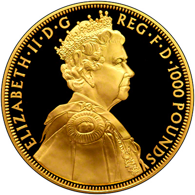 Obverse of 2012 Diamond Jubilee One Kilo Gold Coin