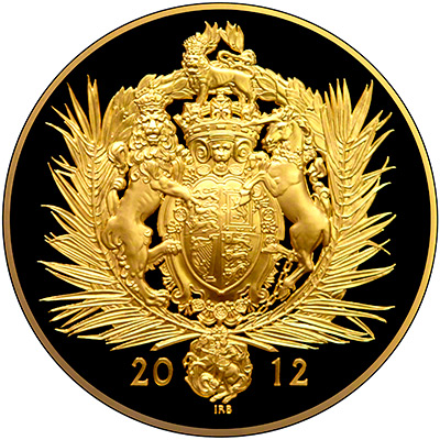 Reverse of 2012 Diamond Jubilee One Kilo Gold Coin