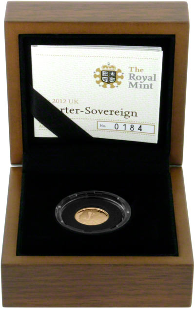 2012 Gold Proof Quarter Sovereign in Presentation Box