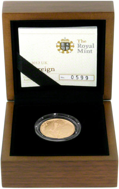 2012 Gold Proof Sovereign in Presentation Box