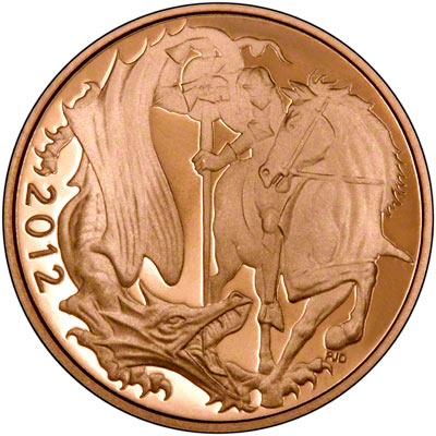 Reverse of 2012 Gold Proof Sovereign