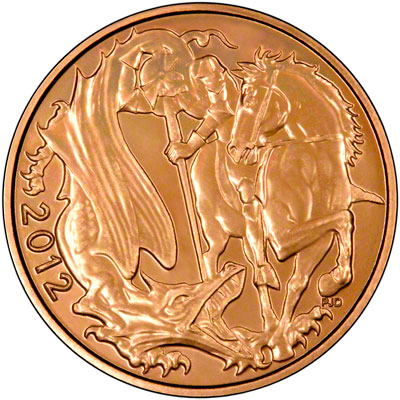 Reverse of 2012 Uncirculated Sovereign