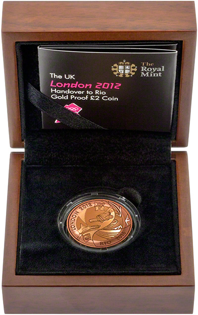 2012 Olympic Games Handover to Rio Two Pounds in Presentation Box