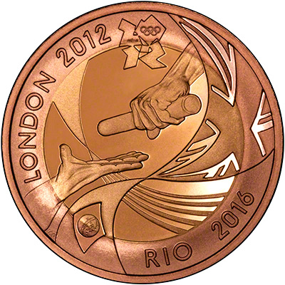 Reverse of 2012 Olympic Games Handover to Rio Two Pounds