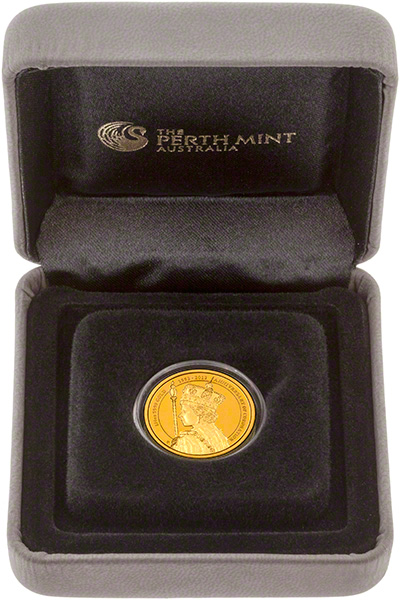 2013 Australian 60th Anniversary of Queen Elizabath II Coronation Gold Proof Coin in Presentation Box