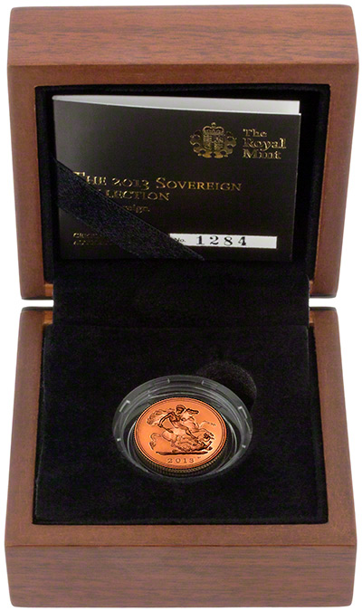 2013 Gold Proof Half Sovereign in Presentation Box