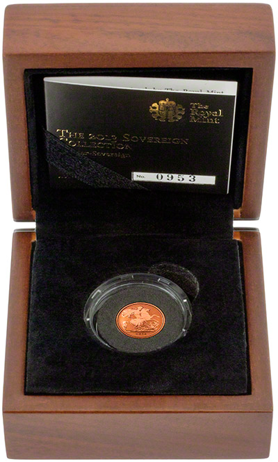 2013 Gold Proof Quarter Sovereign in Presentation Box