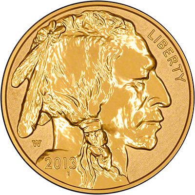 2013 US Reverse Proof Gold Buffalo Obverse