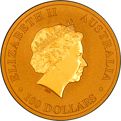 Obverse of 2014 One Ounce Gold Nugget