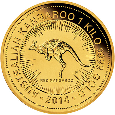 Reverse of 2014 One Kilo Gold Nugget