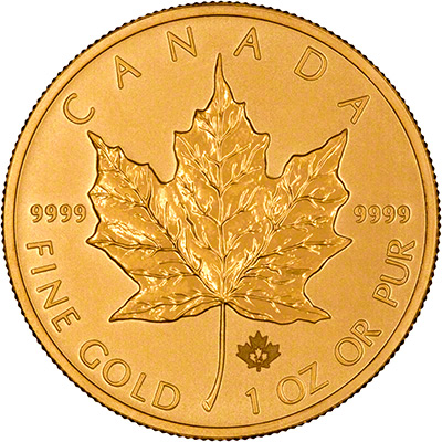 2014 Canadian One Ounce Gold Maple Reverse