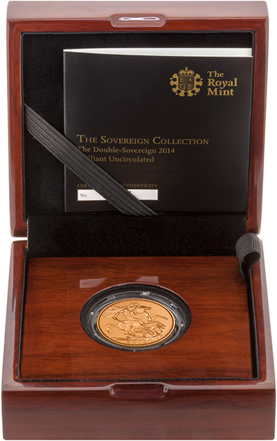 2014 Brilliant Uncirculated Double Sovereign in Presentation Box