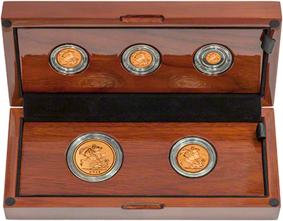 2014 Gold Proof Five Coin Sovereign Set in Presentation Box