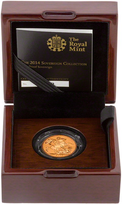 2014 Gold Proof Sovereign in Presentation Box