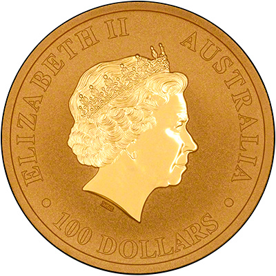 Obverse of 2015 One Ounce Gold Nugget