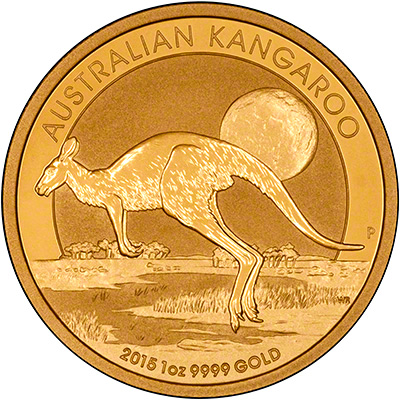 Reverse of 2015 One Ounce Gold Nugget