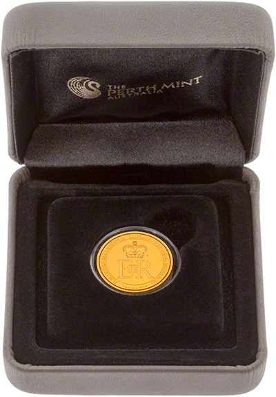 2015 Australian Longest Reigning Monarch Gold Proof Quarter Ounce Coin in Presentation Box