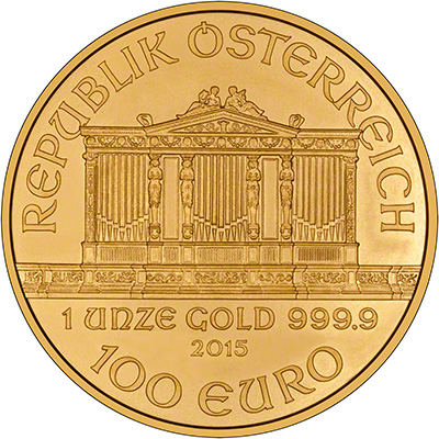 2015 One Ounce Gold Philharmonic Reverse