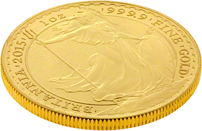 Side of 1oz Gold Britannia