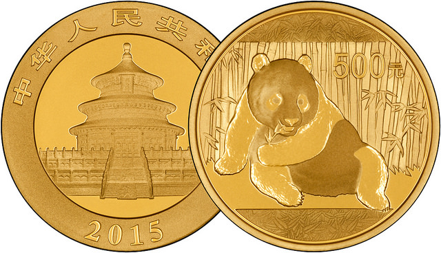 2015 Chinese One Ounce Gold Panda Overlay