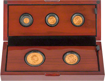 2015 Gold Proof Five Coin Sovereign Set in Presentation Box