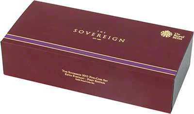 2015 Five Coin Gold Proof Set Presentation Box