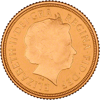 2015 Proof Half Sovereign Obverse