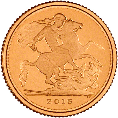 2015 Gold Proof Quarter Sovereign