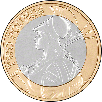 2015 Definitive Britannia Brilliant Uncirculated Two Pound Coin Reverse