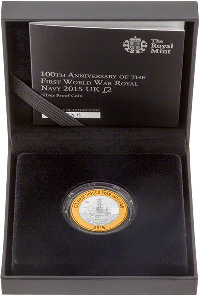 2015 The Royal Navy First World War Gold Proof Two Pound Coin