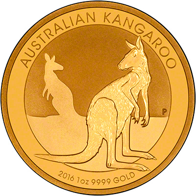 2016 One Ounce Gold Nugget Kangaroo Reverse