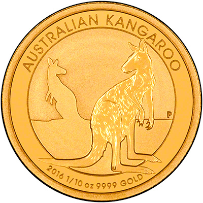 2016 Tenth Ounce Gold Nugget Kangaroo Reverse