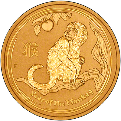 2016 Australian Year of the Monkey Two Ounce Reverse