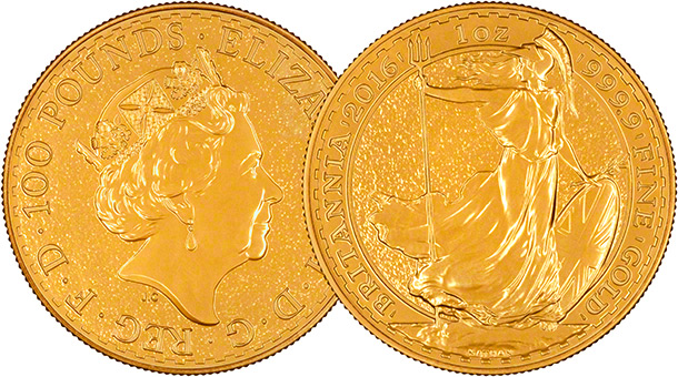 2016 British One Ounce Gold Britannia Overlay