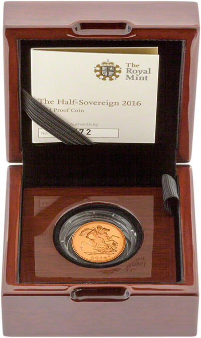 2016 Gold Proof Half Sovereign in Presentation Box