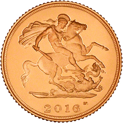 2016 Gold Proof Half Sovereign Reverse
