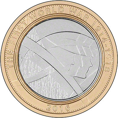 2015 The Army First World War Brilliant Uncirculated Two Pound Coin Reverse