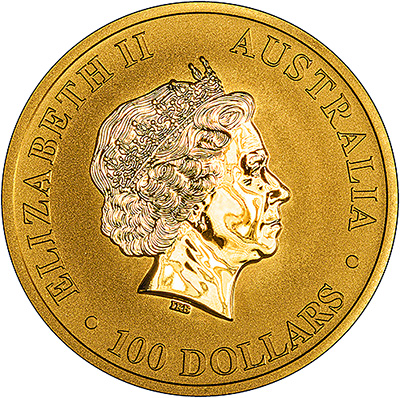 2017 One Ounce Gold Nugget Kangaroo Obverse